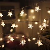 Twinkle Star 100 LED 49 FT Star String Lights, Plug in Fairy String Lights Waterproof
