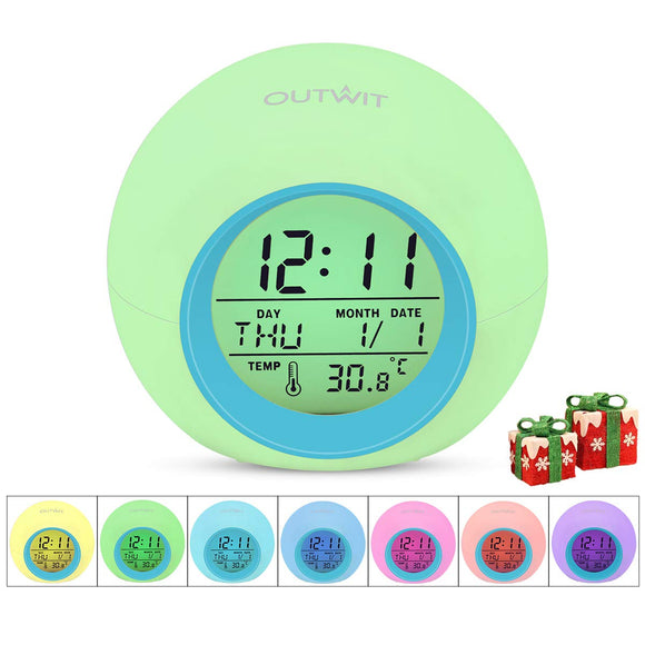 OUTWIT Kids Alarm Clock【Updated Version】, Student Digital Clock