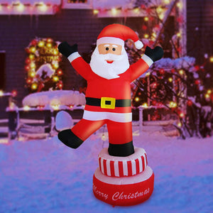 Sunlit Christmas Inflatable 5 feet LED Lighted Santa Electric Blow-Up Yard garrison-city-gadgets.myshopify.com [option1] [option2] [option3]