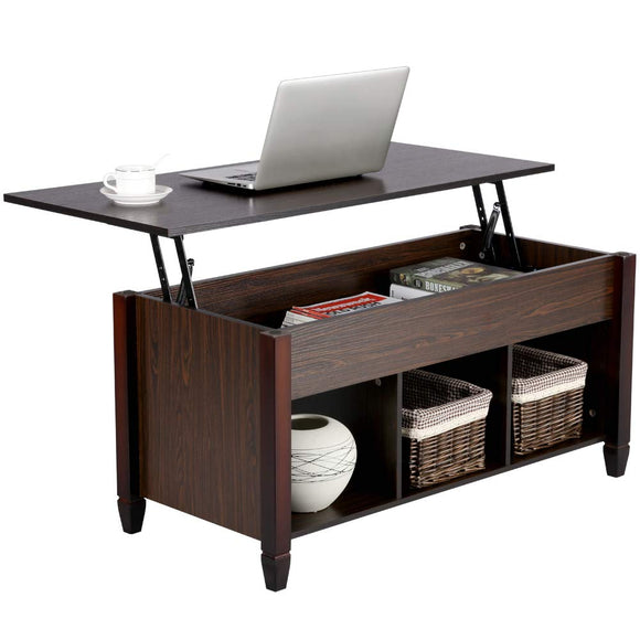 Yaheetech Lift Top Coffee Table with Hidden Storage Compartment & Shelf garrison-city-gadgets.myshopify.com [option1] [option2] [option3]