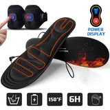 Gimilife Heated Insoles with Power Display,Heated Foot Warmer Insole
