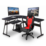 Ivinta Reversible Black Gaming Desk