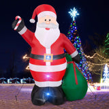 Christmas Inflatables Giant 12 Foot Inflatable Santa Claus with Gift Bag With LED Light garrison-city-gadgets.myshopify.com [option1] [option2] [option3]