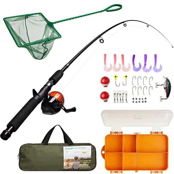 Lanaak Kids Fishing Pole and Tackle Box - with Net, Travel Bag, Reel garrison-city-gadgets.myshopify.com [option1] [option2] [option3]