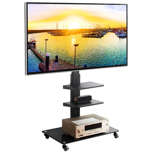 "Rfiver Universal Mobile TV Stand Trolley Cart with Swivel Mount for Most 32""-65"" garrison-city-gadgets.myshopify.com [option1] [option2] [option3]"