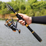 Sougayilang Telescopic Fishing Rod Reel Combos Portable Fishing Pole garrison-city-gadgets.myshopify.com [option1] [option2] [option3]