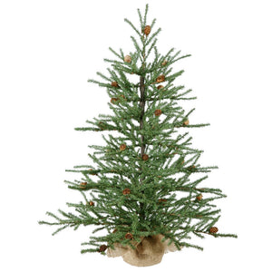 "Vickerman 36"" Carmel Pine Artificial Christmas Tree with Cones and Burlap Base garrison-city-gadgets.myshopify.com [option1] [option2] [option3]"