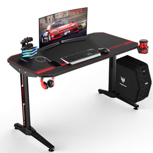 VIT 47 Inch Ergonomic Gaming Desk, T-Shaped Office PC Computer Desk