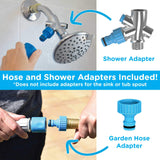 Aquapaw Pet Bathing Tool | Pet Shower Sprayer & Scrubber in-One, Shower Bath Tub & Outdoor Garden Hose Compatible, Dog Cat Horse Grooming