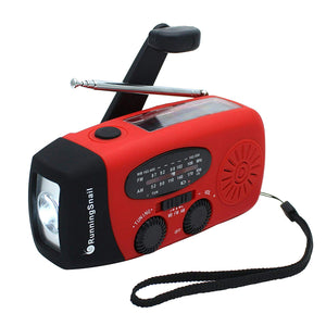 Emergency Hand Crank Self Powered AM/FM NOAA Solar Weather Radio with LED Flashlight - Garrison City Gadgets