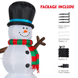YIHONG 7 Ft Christmas Inflatables Snowman with Color Changing LED Lights garrison-city-gadgets.myshopify.com [option1] [option2] [option3]