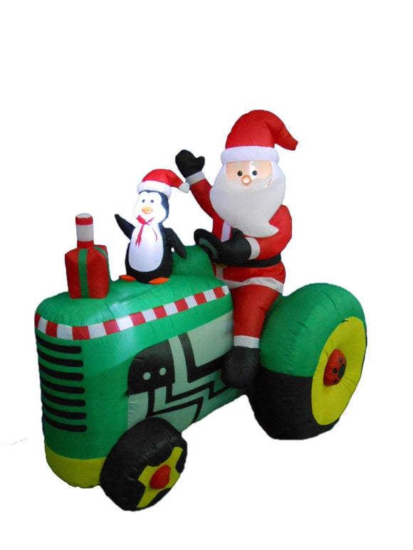 5.3 Foot Tall Christmas Inflatable Santa Claus Drive Tractor with Penguin Yard Decoration garrison-city-gadgets.myshopify.com [option1] [option2] [option3]