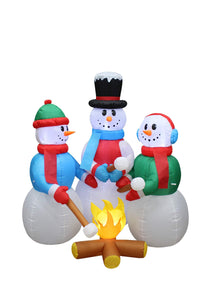5 Foot Tall Huge Christmas Inflatable Snowmen Snowman Campfire Camping Roasting garrison-city-gadgets.myshopify.com [option1] [option2] [option3]