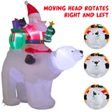 YIHONG 7 Ft Christmas Inflatables Santa Clause Riding The Polar Bear garrison-city-gadgets.myshopify.com [option1] [option2] [option3]