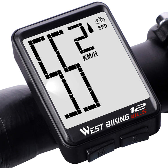 Bicycle Computer Wireless Speedometer, Big Number Display Waterproof