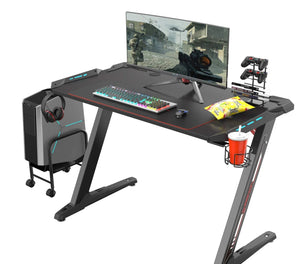 "Eureka Ergonomic Z1-S Gaming Desk 44.5"" Z Shaped Office PC Computer Gaming Desk"