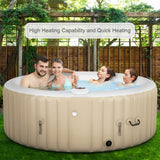 Goplus 4-6 Person Outdoor Spa Inflatable Hot Tub for Portable Jets Bubble Massage garrison-city-gadgets.myshopify.com [option1] [option2] [option3]