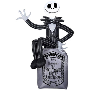 6' Jack Skellington on Grave Stone Disney Nightmare Before Christmas Halloween inflatable garrison-city-gadgets.myshopify.com [option1] [option2] [option3]