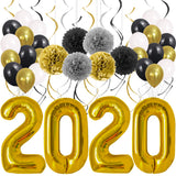 New Years Eve Party Supplies 2020 Decorations Kit, Gold White and Black Balloons Sets, lunar New Year's, Graduation Party Supplies 2020 Decor