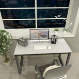 "Computer Desk 47"" Modern Sturdy Office Desk Study Writing Desk for Home Office, Coleshome, White..."