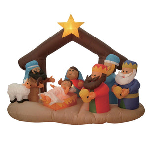 6 Foot Christmas Inflatable Nativity Scene with Three Kings Party Decoration garrison-city-gadgets.myshopify.com [option1] [option2] [option3]