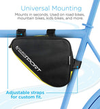 Aduro Sport Bicycle Bike Storage Bag Triangle Saddle Frame Pouch for Cycling (Yellow)