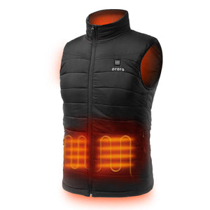 ORORO Men's Lightweight Heated Vest with Battery Pack (Medium) Black
