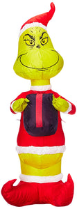 Gemmy 81246 Airblown Grinch with Present Christmas Inflatable 4 FT TALL garrison-city-gadgets.myshopify.com [option1] [option2] [option3]