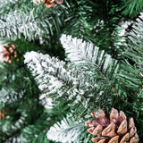 Senjie Artificial Christmas Tree 6,7,7.5Foot Flocked Snow Trees with Pine Cone garrison-city-gadgets.myshopify.com [option1] [option2] [option3]
