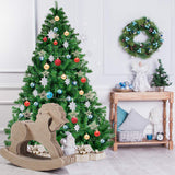 Goplus Christmas Tree Unlit Artificial Premium Hinged Spruce Full Tree garrison-city-gadgets.myshopify.com [option1] [option2] [option3]