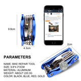 West Biking Bike Multi Fixing Tools, Carbon Steel Portable Compact Multifunctional