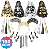 Amscan Fantasy New Year's Party Kit for 100, Includes Top Hats, Tiaras and Bead Necklaces