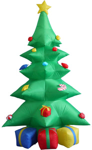 8 Foot Green Christmas Inflatable Tree with Multicolor Gift Boxes and Star Party Decoration garrison-city-gadgets.myshopify.com [option1] [option2] [option3]
