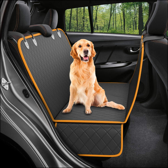 Active Pets Hammock Dog Back Seat Cover, Waterproof, Scratchproof, Nonslip Car/Truck/SUV Back Seat Protector