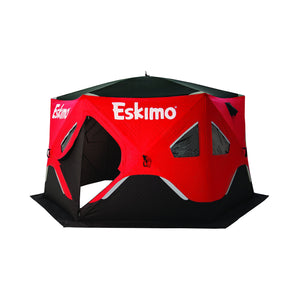 Eskimo FF6120I FatFish Insulated Pop-up Portable 6-Sided Ice Shelter, 5-7 Person
