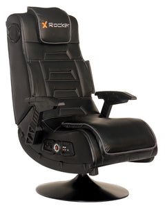 X Rocker Pro Series 2.1 Vibrating Black Leather Foldable Video Gaming Chair