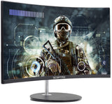 "Sceptre 24"" Curved LED Monitor Full HD 1080P HDMI VGA up to 75Hz Speakers, VESA Wall Mount Ready Metal Black 2019 (C248W-1920RN)"