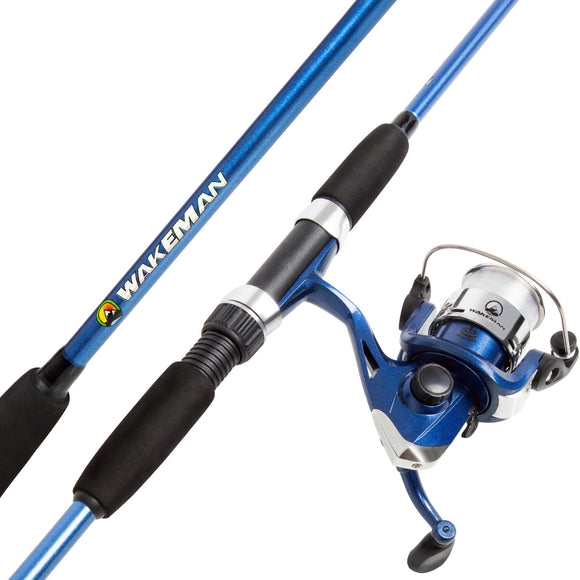 Wakeman Swarm Series Spinning Rod and Reel Combo - Blue Metallic garrison-city-gadgets.myshopify.com [option1] [option2] [option3]
