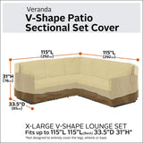 Classic Accessories Veranda V-Shaped Sectional Sofa Cover, X-Large garrison-city-gadgets.myshopify.com [option1] [option2] [option3]
