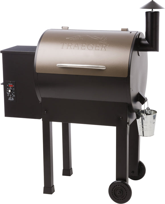 Traeger TFB42LZB Lil Tex Elite 22 Grill and Smoker 418 Sq. in. Cooking Capacity, Bronze garrison-city-gadgets.myshopify.com [option1] [option2] [option3]