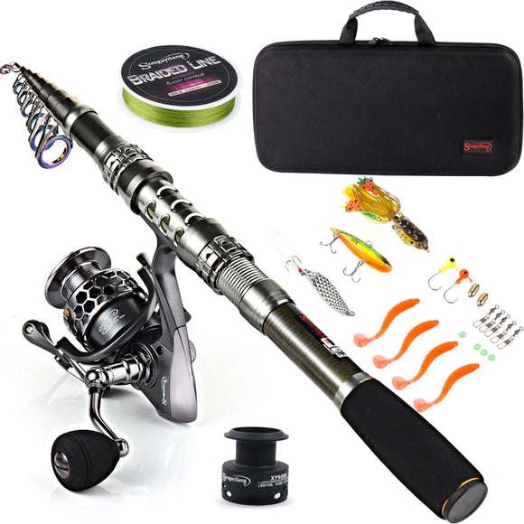 Sougayilang Fishing Rod Combos with Telescopic Fishing Pole Spinning Reels garrison-city-gadgets.myshopify.com [option1] [option2] [option3]