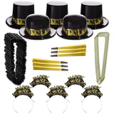 Gold Showboat NYE New Year Party Kit for 100 Guests
