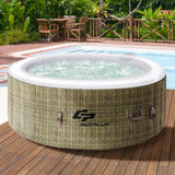 GYMAX Outdoor Spa, 4 Person Inflatable Portable Hot Tub with Accessories Set garrison-city-gadgets.myshopify.com [option1] [option2] [option3]