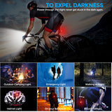 USB Rechargeable Bike Light Set, Runtime 8+ Hours 400 Lumen Super Bright Headlight