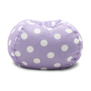 Big Joe , Lavender Polka Dot Classic Bean Bag Chair, Lavendar with White