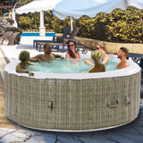 GYMAX Outdoor Spa, 6 Person Portable Inflatable Hot Tub with Accessories Set garrison-city-gadgets.myshopify.com [option1] [option2] [option3]