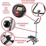 Sunny Health & Fitness Twist Stepper Step Machine w/Handle Bar and LCD Monitor - NO. 059