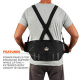 "Ergodyne ProFlex 1600 Back Support Brace, 9"" Extended Support, High Cut Front"