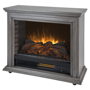 Pleasant Hearth Dark Weathered Sheridan Mobile Infrared Fireplace - Grey, garrison-city-gadgets.myshopify.com [option1] [option2] [option3]