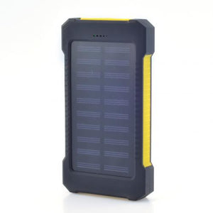 Waterproof Portable Dual USB Ports LED Solar Power Bank 10000mAh